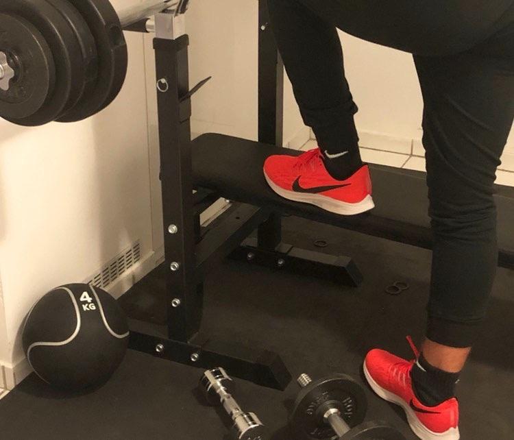 Paul von Fitnessweisheiten beim Training